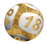 lottery ball with historical pattern