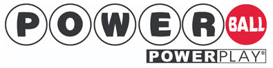 Powerball lottery logo with powerplay